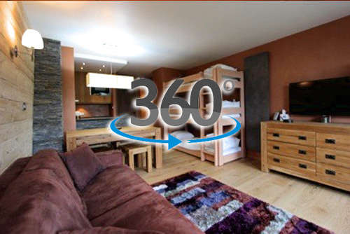 Visite virtuelle rénovation appartement Avoriaz